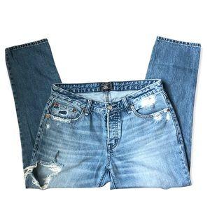 Abercrombie & Fitch Ames Low Rise Distressed Slim Boyfriend Jeans size 2